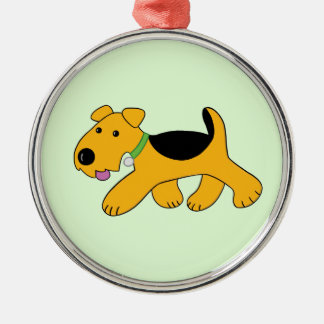 Cute Kawaii Airedale Terrier Dog Premium Ornament