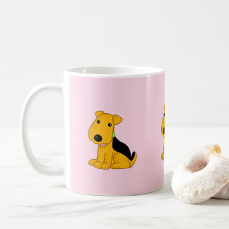 Cute Kawaii Airedale Terrier Puppy Dog Mug