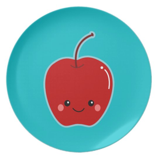 Cute  Kawaii Apple Plate