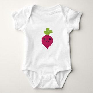 Cute Kawaii Beet Baby Bodysuit