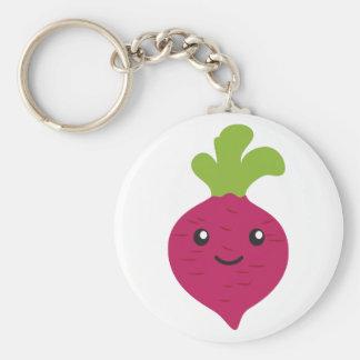 Cute Kawaii Beet Basic Round Button Keychain