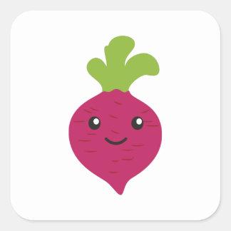 Cute Kawaii Beet Square Sticker