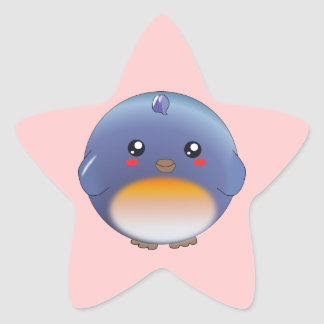 Cute kawaii bluebird stickers
