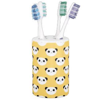 Cute Kawaii Blushing Panda Face Pattern Soap Dispenser And Toothbrush Holder