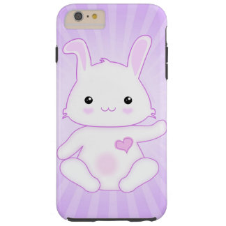 Cute Kawaii Bunny Rabbit in Purple and Lilac Tough iPhone 6 Plus Case