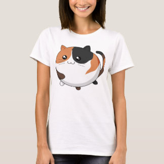 Cute Kawaii Calico kitty cat T-Shirt