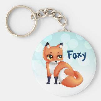 Cute Kawaii cartoon fox Keychain