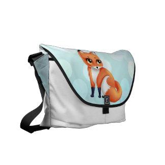Cute Kawaii cartoon fox Messenger Bags