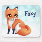 Cute Kawaii cartoon fox Mouse Pad