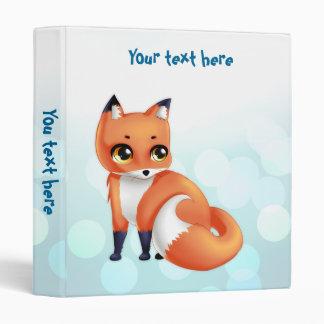 Cute Kawaii cartoon fox Vinyl Binders