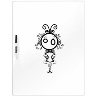 Cute Kawaii Cartoon Girl Dry-Erase Whiteboards