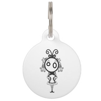 Cute Kawaii Cartoon Girl Pet Tags