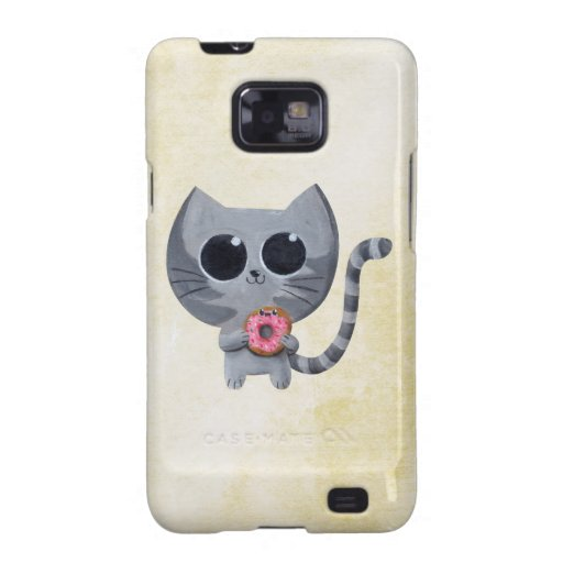 Cute Kawaii Cat with Donut Samsung Galaxy S Case