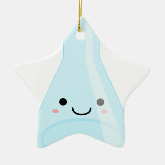 Cute Kawaii Chemistry Flask Ceramic Star Ornament