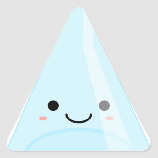 Cute Kawaii Chemistry Flask Triangle Sticker