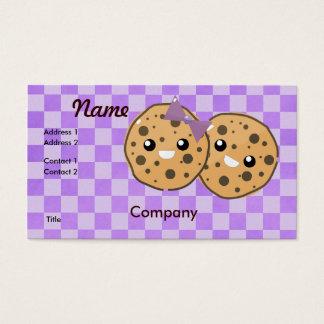 Cute Kawaii Chocolate Chip Cookie Couple Business Card