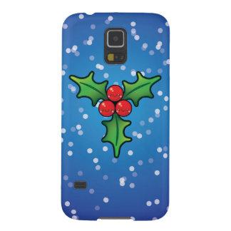 Cute Kawaii Christmas Holly Berry Samsung S5 Case