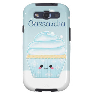 Cute Kawaii Christmas Snowflake cupcake Galaxy SIII Case