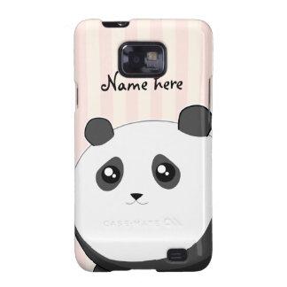Cute Kawaii chubby panda bear Samsung Galaxy SII Cover