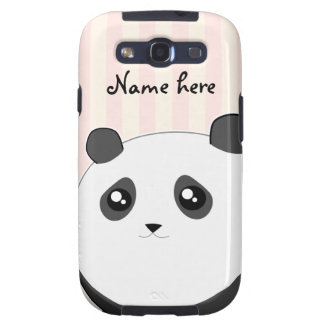 Cute Kawaii chubby panda bear Galaxy SIII Covers