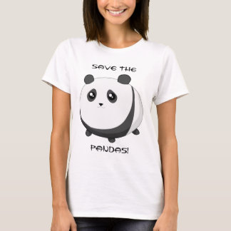 Cute Kawaii chubby panda bear T-Shirt