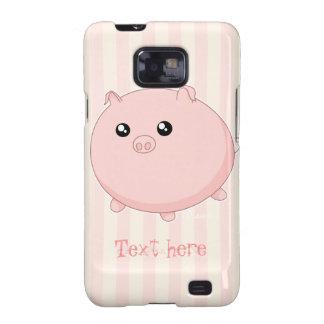 Cute Kawaii chubby pink pig Galaxy S2 Case