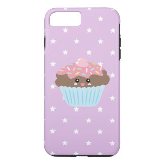 Cute Kawaii Cupcake Stars Pattern Pastel Purple iPhone 8 Plus/7 Plus Case