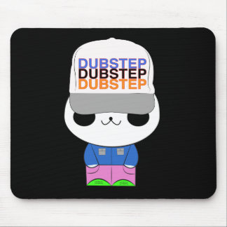 Cute kawaii dubstep panda mousepad