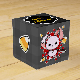 Cute Kawaii evil bunny with chainsaw Wedding Favor Box