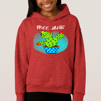 Cute Kawaii Free Hugs Smiling Cactus Plant Graphic