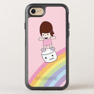 Cute Kawaii Girl on Rainbow w Marshmallow Otterbox OtterBox Symmetry iPhone 8/7 Case