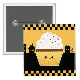 Cute Kawaii Halloween cupcake Button
