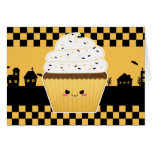 Cute Kawaii Halloween cupcake Card