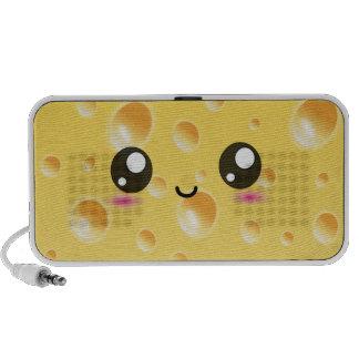 Cute Kawaii Happy Cheese iPhone Speakers