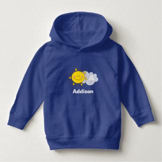 Cute Kawaii Happy Sunshine Monogram Add Your Name Hoodie