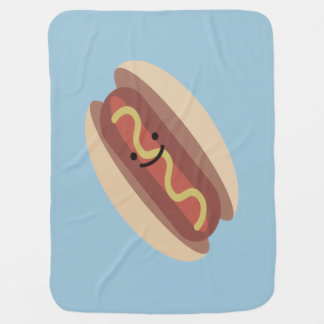Cute Kawaii Hot Dog Baby Blanket
