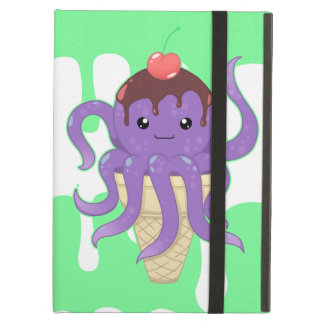 Cute kawaii ice cream purple octopus iPad air case