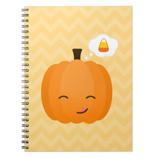 Cute Kawaii Jack o'Lantern and Candy Corn Notebooks