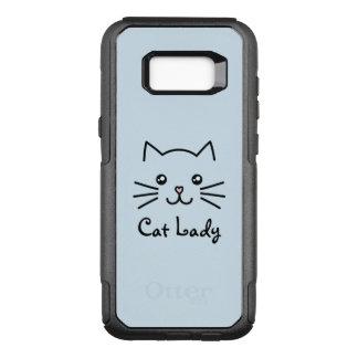 Cute Kawaii Kitten Cat Face Cat Lover Minimalist OtterBox Commuter Samsung Galaxy S8+ Case