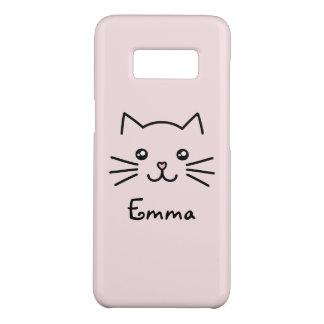 Cute Kawaii Kitten Cat Face With Pink Heart Nose Case-Mate Samsung Galaxy S8 Case