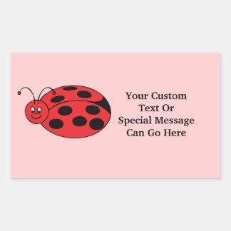 Cute Kawaii Ladybug Lady Bug Black Red Pink