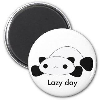 Cute kawaii lazy day panda magnet