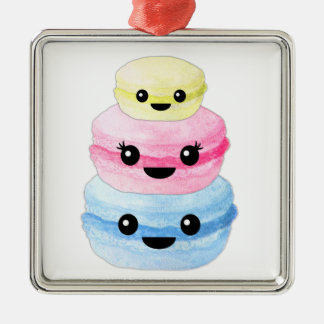 Cute Kawaii Macaron Stack Metal Ornament