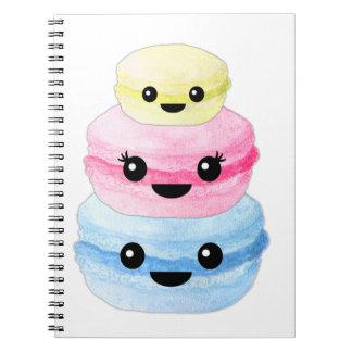 Cute Kawaii Macaron Stack Notebook