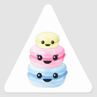 Cute Kawaii Macaron Stack Triangle Sticker