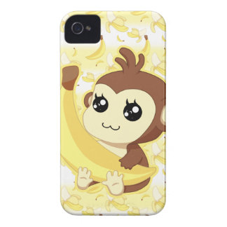 Cute Kawaii monkey holding banana iPhone 4 Case-Mate Case