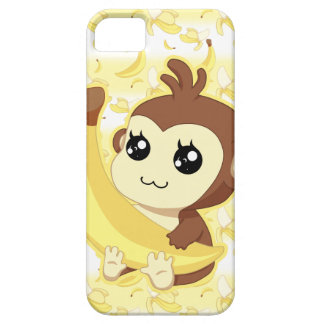 Cute Kawaii monkey holding banana iPhone 5 Cover