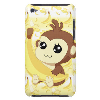 Cute Kawaii monkey holding banana iPod Touch Case-Mate Case