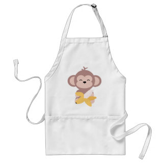 Cute Kawaii Monkey with Banana Apron