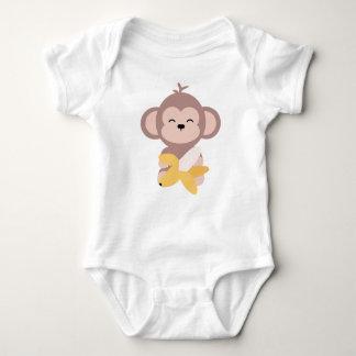 Cute Kawaii Monkey with Banana Baby Bodysuit